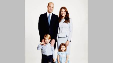 Britain's Royal family go matching blues for their Christmas Card this year