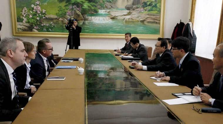 UN envoy, UN envoy visits N Korea, Jeffrey Feltman N Korea visit, UN envoy in North Korea, world news, indian express news