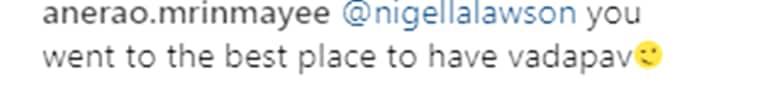 Nigella Lawson, vada pav, love for vada pav, mumbai vada pav