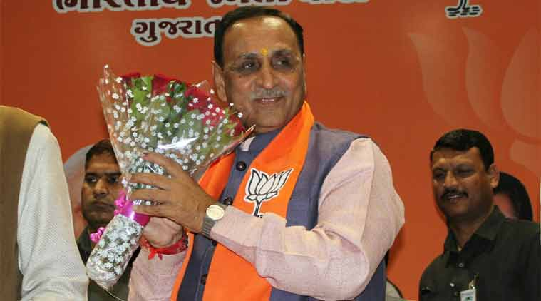 Gujarat swearing in ceremony Swearing in ceremony Gujarat Vijay Rupani Gujarat CM Vijay Rupani PM Narendra Modi Amit Shah Nitin Patel India News Indian Express Indian Express News