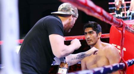 Vijender Singh wins 10th successive bout, retains Asia Pacific and Oriental belts: Highlights