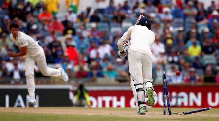 James Vince was bowled to a beauty by Mitchell Starc.
