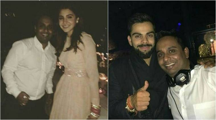virat kohli anushka sharma after marriage dj party photos