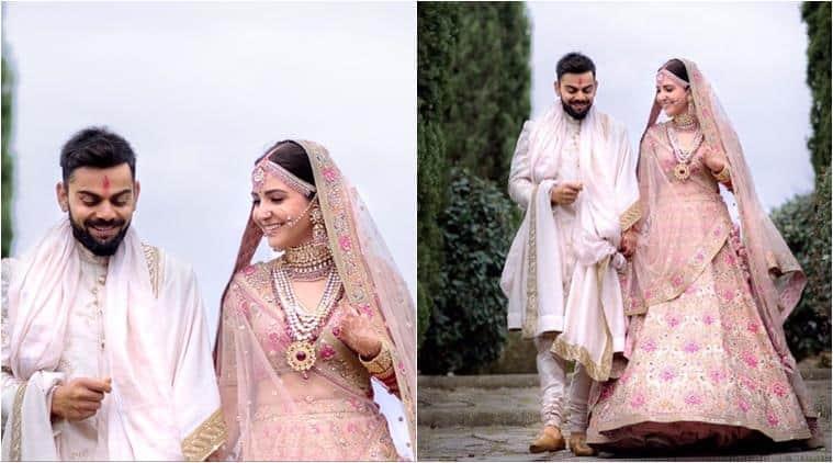 anushka sharma, virat kohli, sabyasachi, anushka sabyasachi, anushka bridal lehenga, virat kohli bridal sherwani, fashion news, indian express, entertainment news