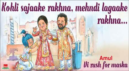 Amul congratulates Virat Kohli and Anushka Sharma on their wedding in its true witty style