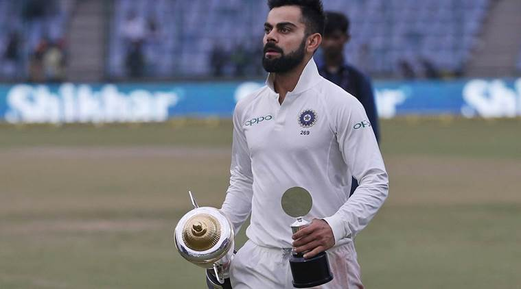 Virat Kohli won his 9th consecutive Test series.