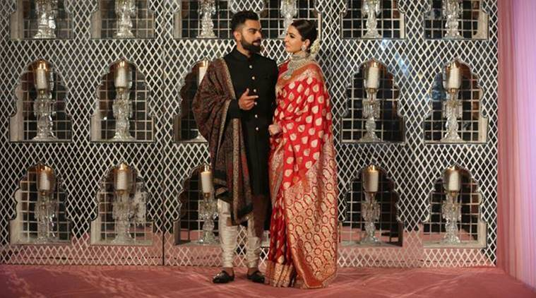 photos of anushka sharma virat kohli wedding reception