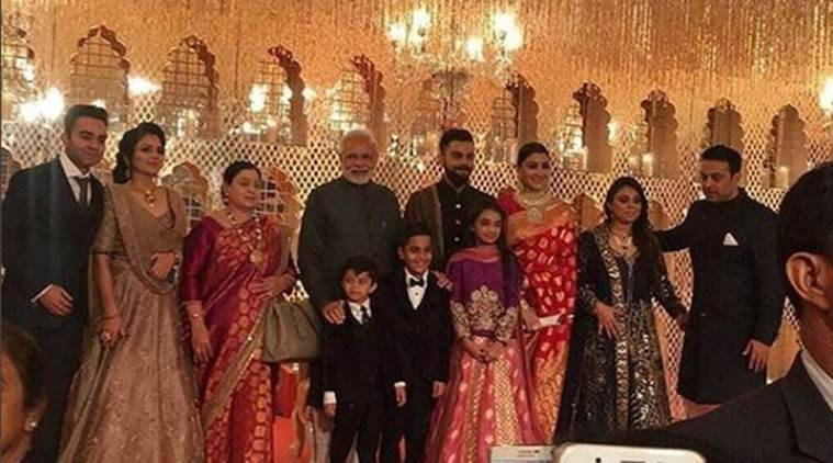 Virat Kohli and Anushka Sharma hosted a marriage reception in New Delhi.