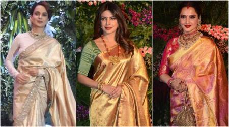 Priyanka, Kangana, Rekha: The enchanting golden beauties at Virushka's Mumbai reception