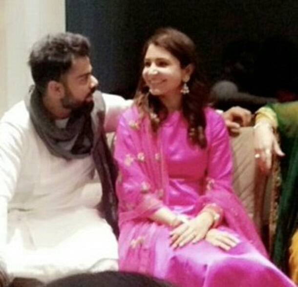 Virat Kohli with wife Anushka Sharma