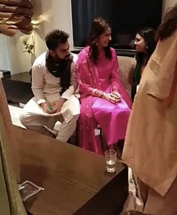 Virat Kohli with Anushka Sharma in Delhi