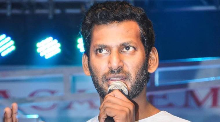 Actor Vishal sits on dharna after EC rejects his nomination