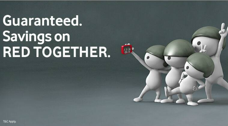 Vodafone Red Together benefits features 20GB extra data