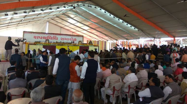 Vijay Rupani swearing-in LIVE UPDATES: PM Modi arrives in Ahmedabad