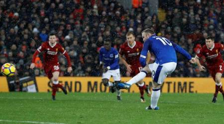 Wayne Rooney, Everton, Liverpool, Liverpool vs Everton, Premier League, sports news, football, Indian Express