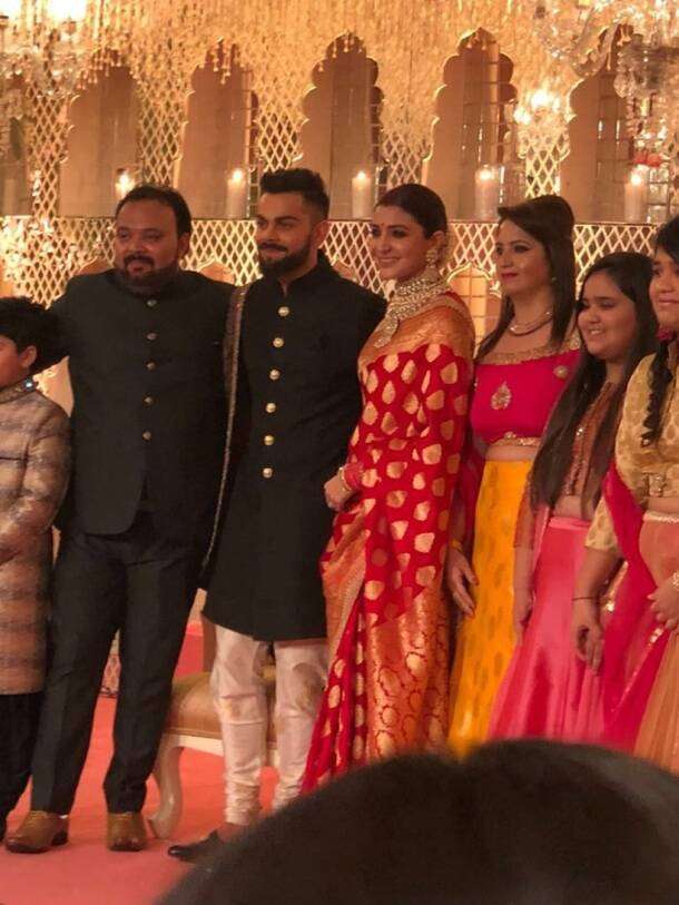 Virat Kohli Anushka Sharma wedding reception pics