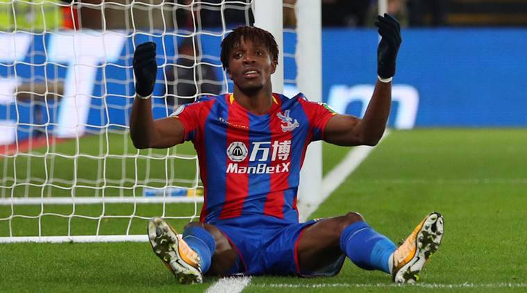 Palace winger Zaha doubtful for Liverpool game