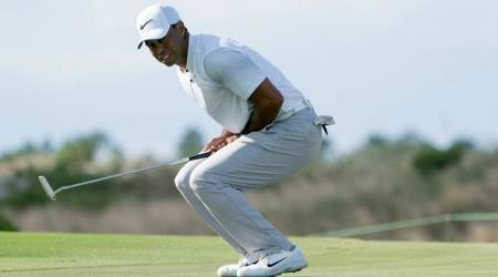 Tiger Woods tied for fifth after firing 68 in Bahamas