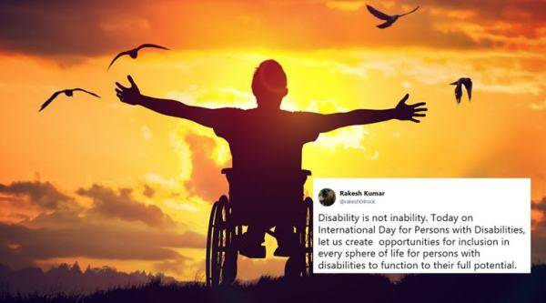 world disability day, international day for disabled persons, disabilied, divyanga, end discrimination against disability, twitter trends, indian express, viral news, trending news