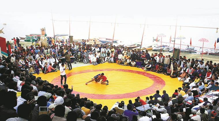 A day in the life of women's wrestling at 'benaras kesri'