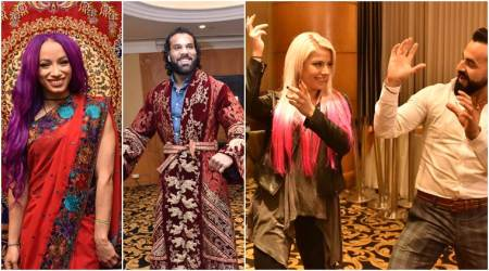 Jinder mahal, Sasha banks, Alexa Bliss are in Delhi for WWE Live India 2017