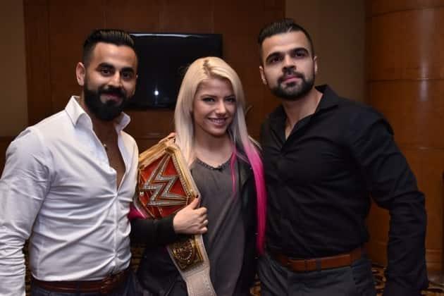 Jinder Mahal, Sasha Banks and Alexa Bliss ahead of WWE Live India 2017