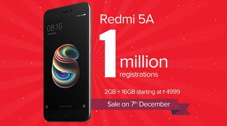 Redmi 5A gets over 1 million registrations before first sale ...