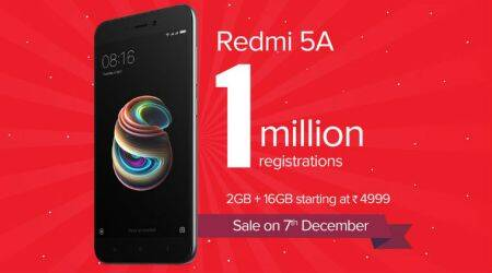 Redmi 5A gets over 1 million registrations before first sale: Xiaomi