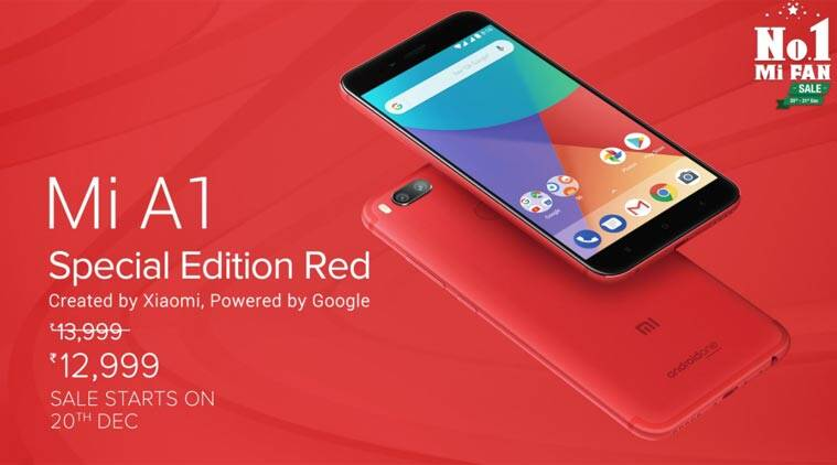Xiaomi Mi A1 Red colour edition launched at Rs 12,999 ...