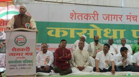 Yashwant Sinha launches farmers' agitation