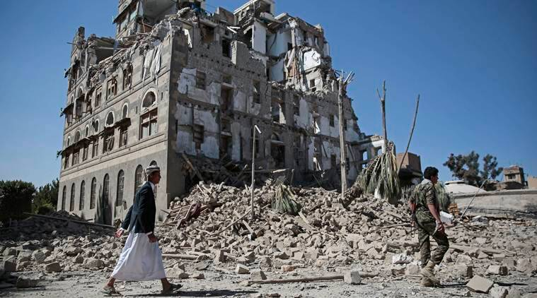 civil war in Yemen between President Abdrabbuh Mansour Hadi's loyalists and Houthi rebels started in 2015