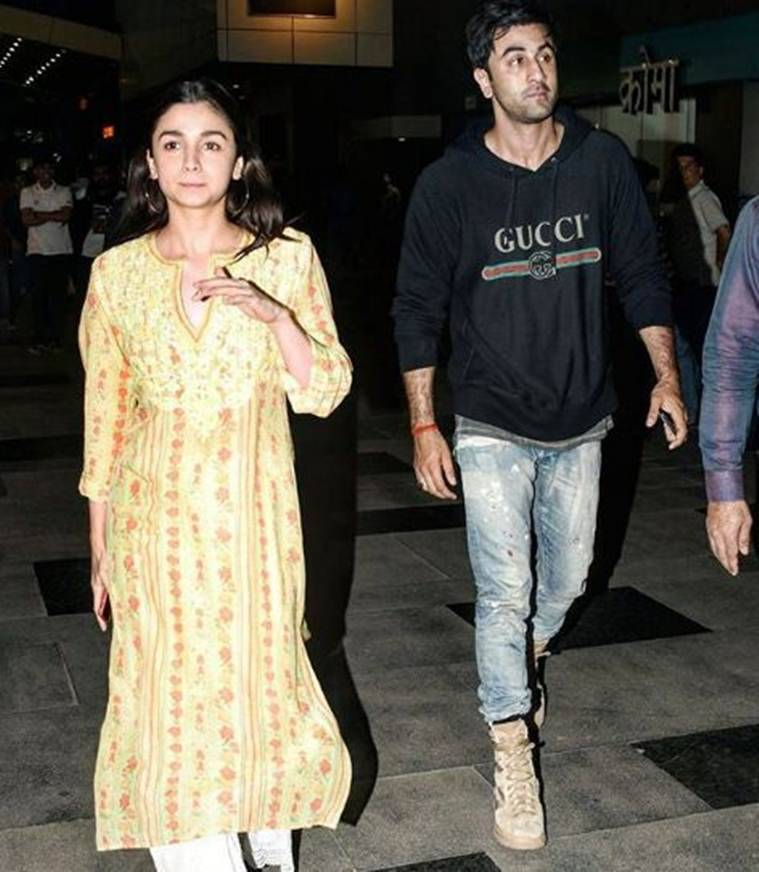 alia bhatt and ranbir kapoor at sanjay leela bhansali padmaavat screening