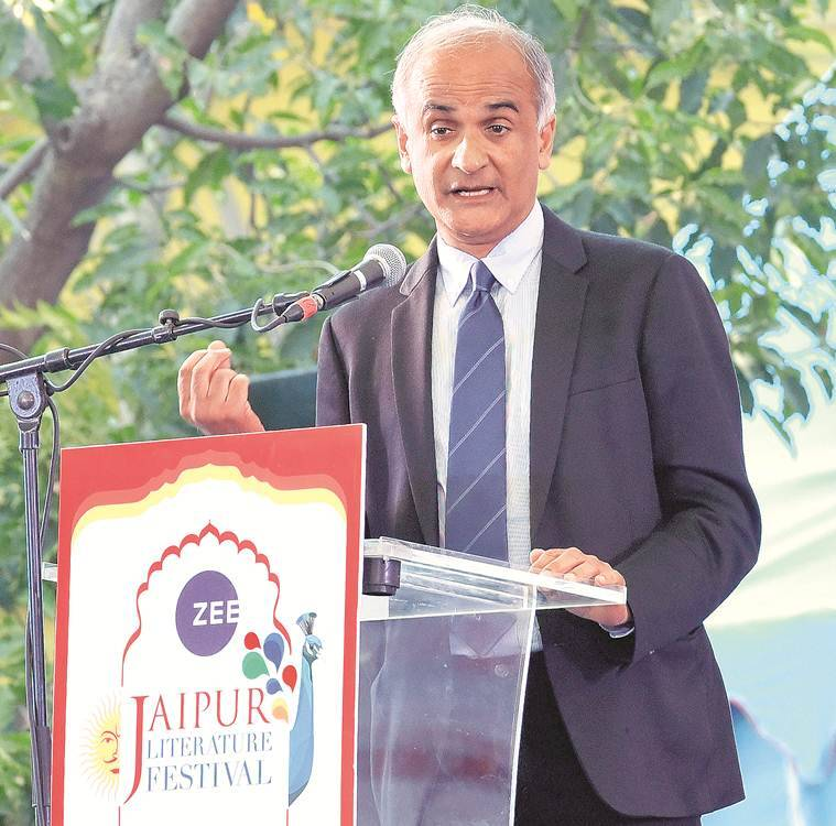 Travel writer and novelist Pico Iyer, literature in divided world, jaipur literture festival, importance of literature, jaipur literary fest, pico iyer, literature festivals