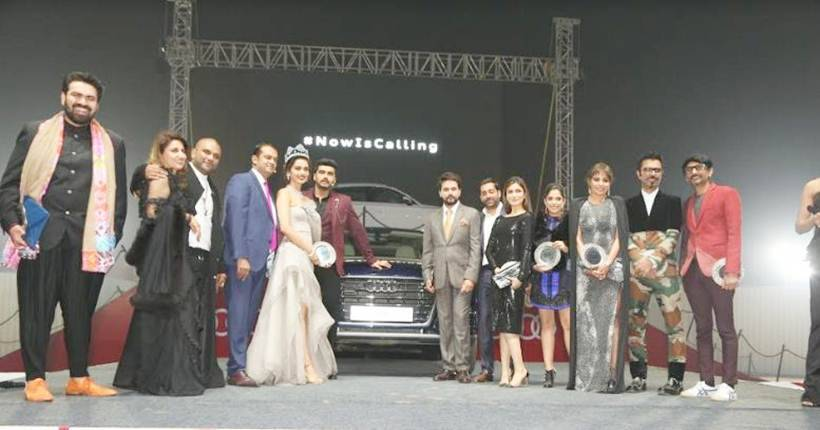 Celebs pose for a picture at the launch