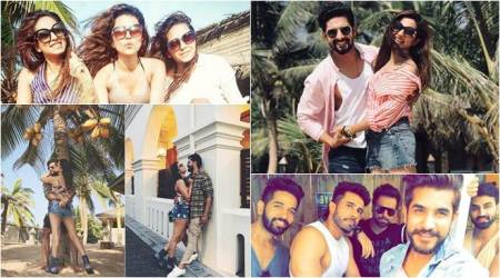 photos of asha negi, rithvik ravi sargun from their new year celebrations
