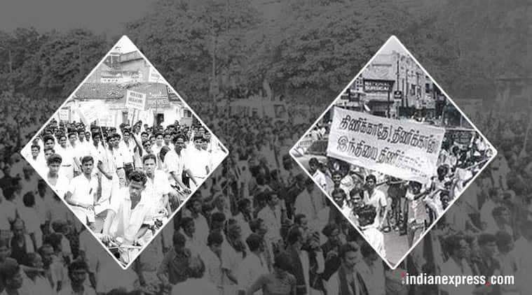 Stalin, M K Stalin, DMK, Hindi, anti-Hindi protests, Stalin 1965 protests, DMK 1965 anti Hindi protests, India news, Indian Express