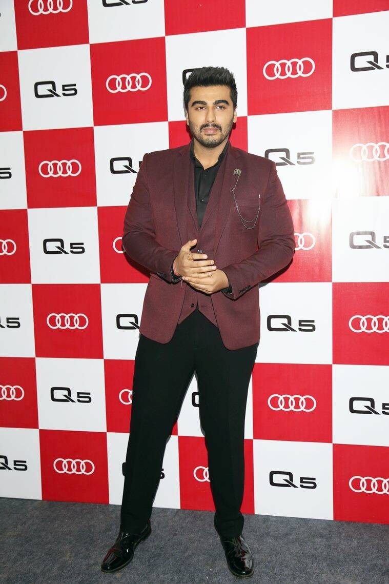 Audi Q5 launch, Manushi Chhillar, Arjun Kapoor, Gauahar Khan, Riddhima Kapoor, Manushi Chhillar fashion, Manushi Chhillar style, Manushi Chhillar latest photos, Arjun Kapoor latest photos, Gauahar Khan latest photos, indian express, indian express