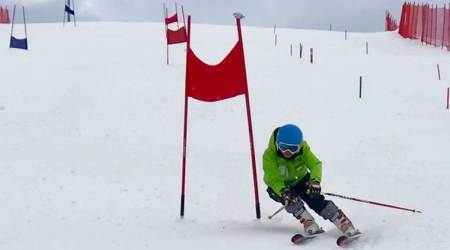 skiing in Himachal, snowless slopes in Himachal, indian express, indian express news
