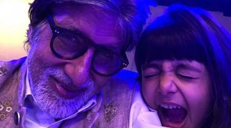 Photos: Amitabh Bachchan rang in the new year with his 'bestest' granddaughters Aaradhya and NavyaNaveli