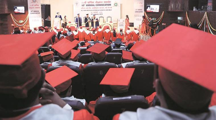 All India Institute of Medical Sciences, AIIMS 45th convocation, AIIMS convocation, Medical Science, Medical Science To Profiteer, Ram Nath Kovind, Delhi News, Indian Express, Indian Express News