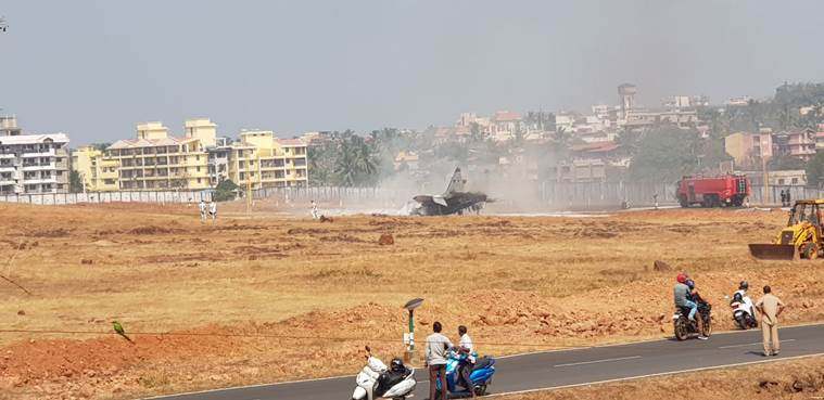 Navy aircraft catches fire in Goa, pilot ejects safely