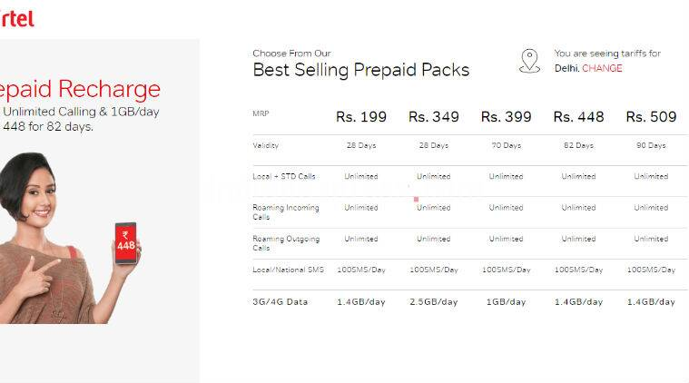 Airtel's Rs 199, Rs 448, Rs 509 recharge plans will now offer 1 4GB