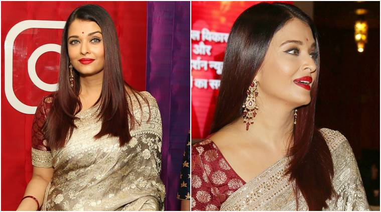 Aishwarya Rai Bachchan looks like a dream in a Sabyasachi sari; see pics