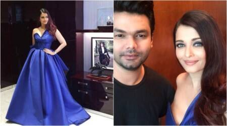 Aishwarya Rai Bachchan looks stunning as ever in a royal blue gown