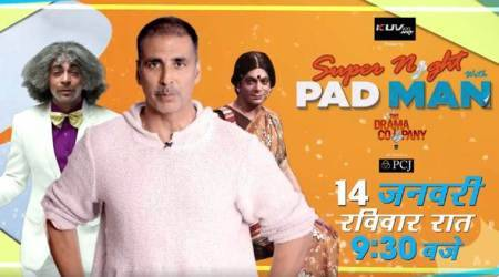 Super Night With PadMan: Akshay Kumar and Sunil Grover set to create a laughter riot, watch video