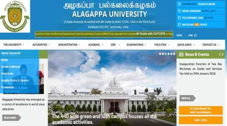 Alagappa University UG exams 2017 results declared at alagappauniversity.ac.in