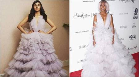 Alia Bhatt or Kelly Rowland: Who wore the ruffled Monsoori gown better?
