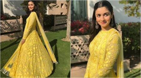 Alia Bhatt shows us how to wear the perfect yellow outfit for Vasant Panchami