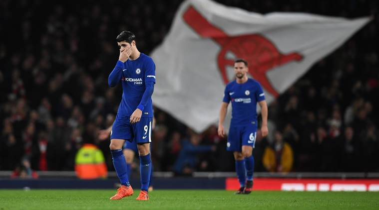 After poor showing against Arsenal, Antonio Conte defends Alvaro Morata