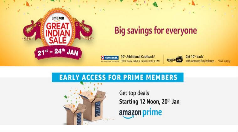 Amazon Great Indian Sale, Amazon Great Indian Sale Jan 21-24, Amazon Great Indian Sale 2018, Amazon Great Indian Sale discounts, Amazon Great Indian Sale best deals, Apple, OnePlus, Samsung, Kindle